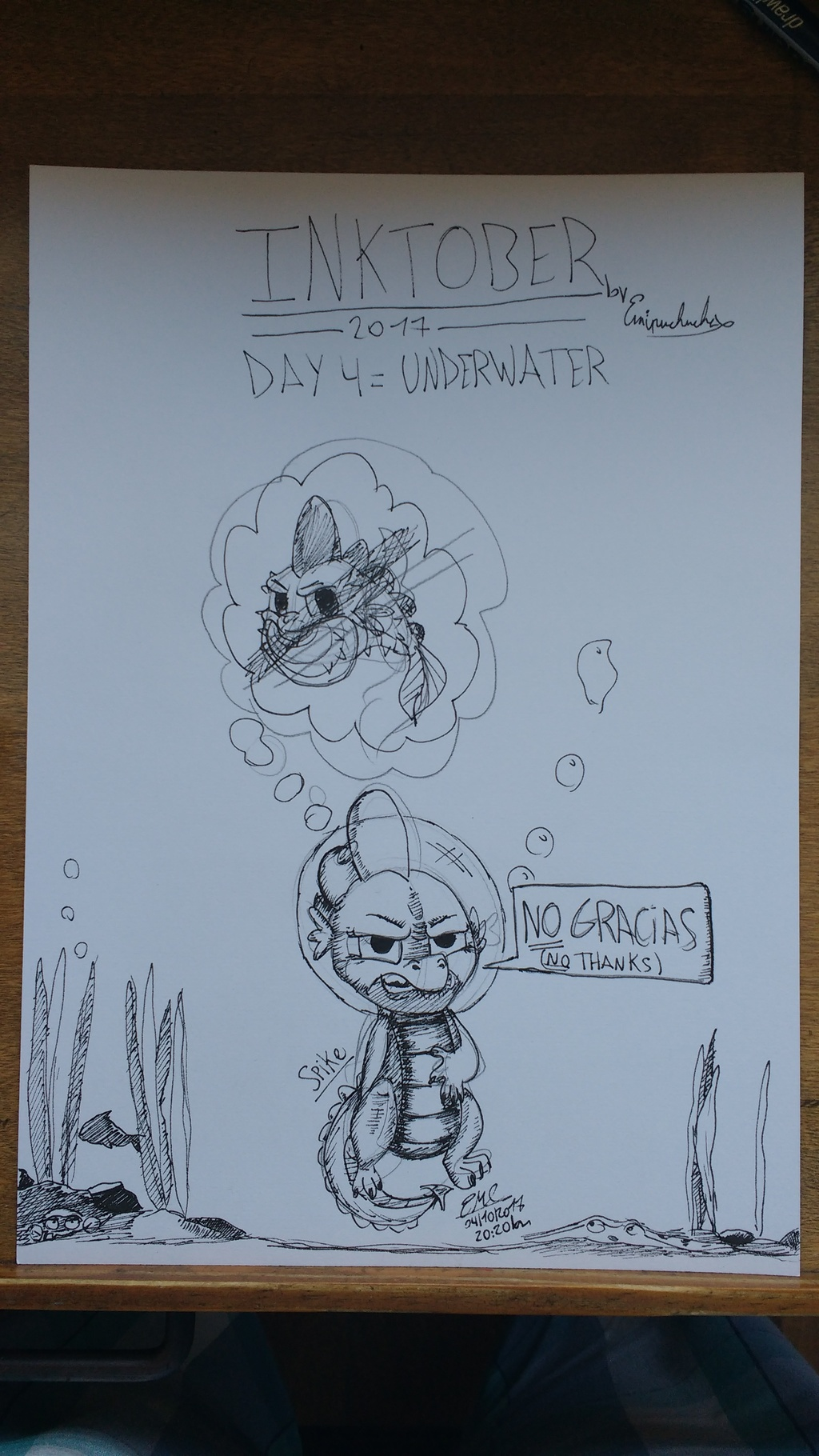 Most recent image: Inktober 2017: Day 4 - Underwater