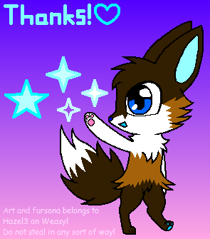 Hazel says thanks!