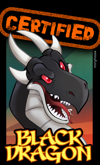 Black Dragon Certified Tag by Marymouse