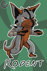 (Badge) Chibi Fighting Rodent