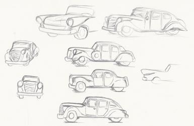Staff Car Concept Sketches