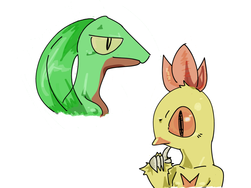 Grovyle and Combusken sketch