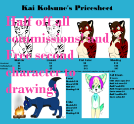 Half off all commissions!