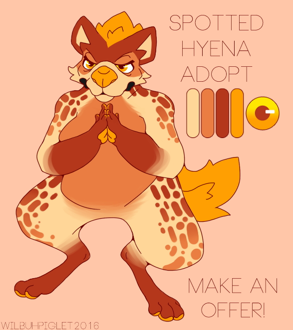 Most recent image: Spotted Hyena Adopt --- Make an Offer!