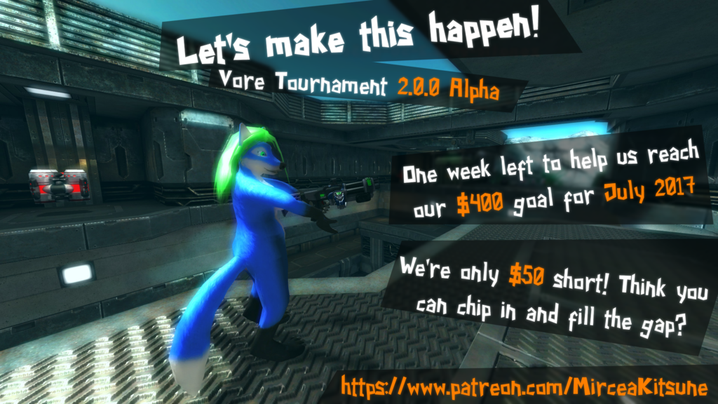Vore Tournament 2.0.0 Alpha - One week left to meet our goal for July!