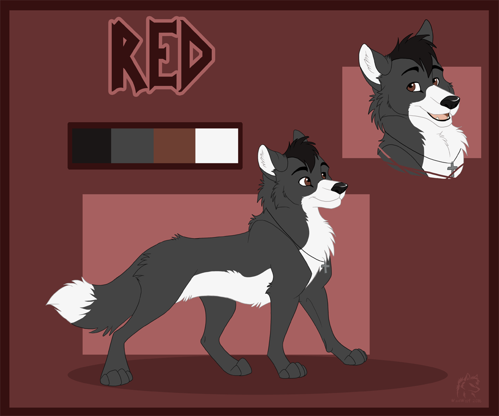 Red Reference Sheet ( Feral Wolf Form)