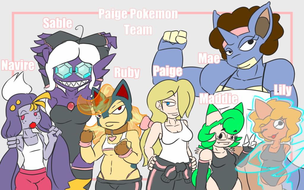 Paige's Pokemon Team