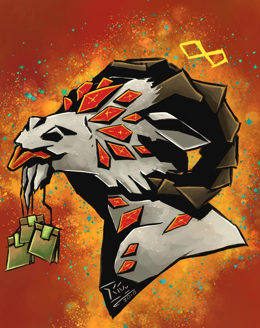 Artfight '18: Skullbird