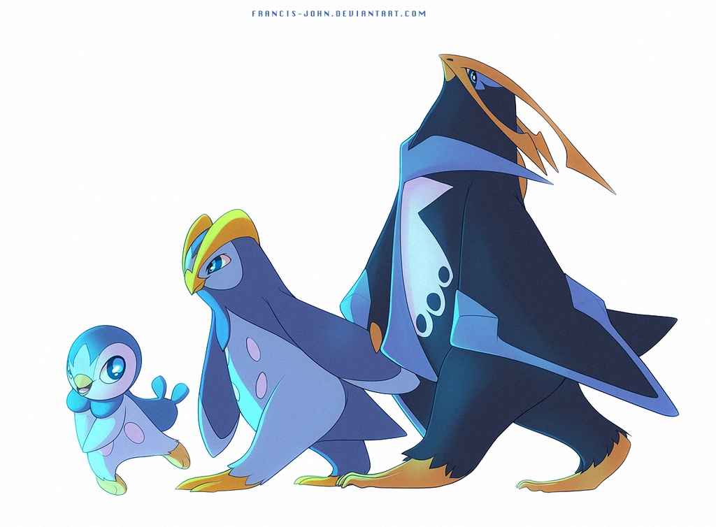 Piplup Prinplup and Empoleon