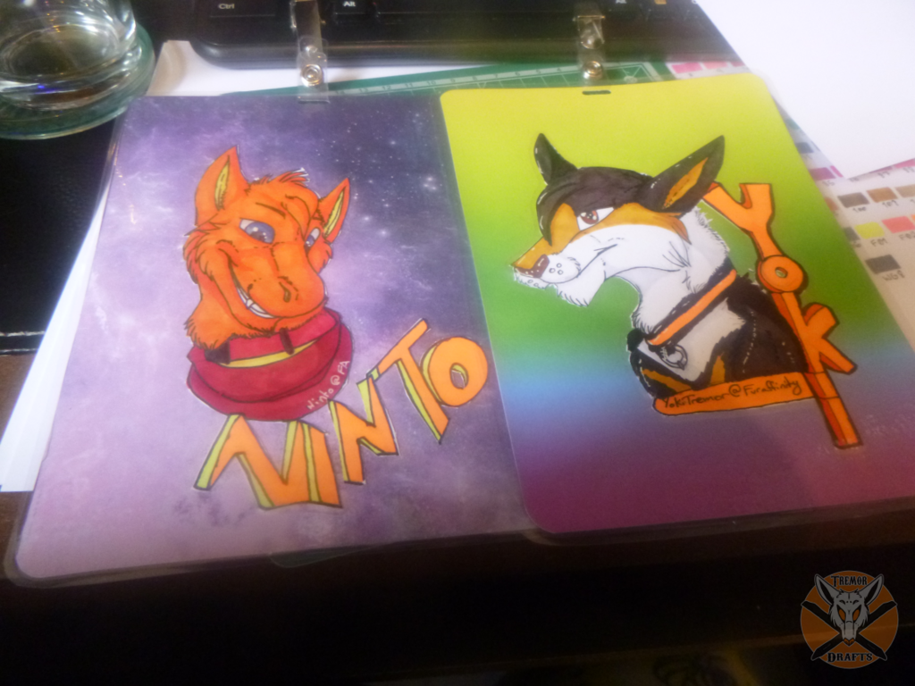 Bust Badges     Yoki and Ninto