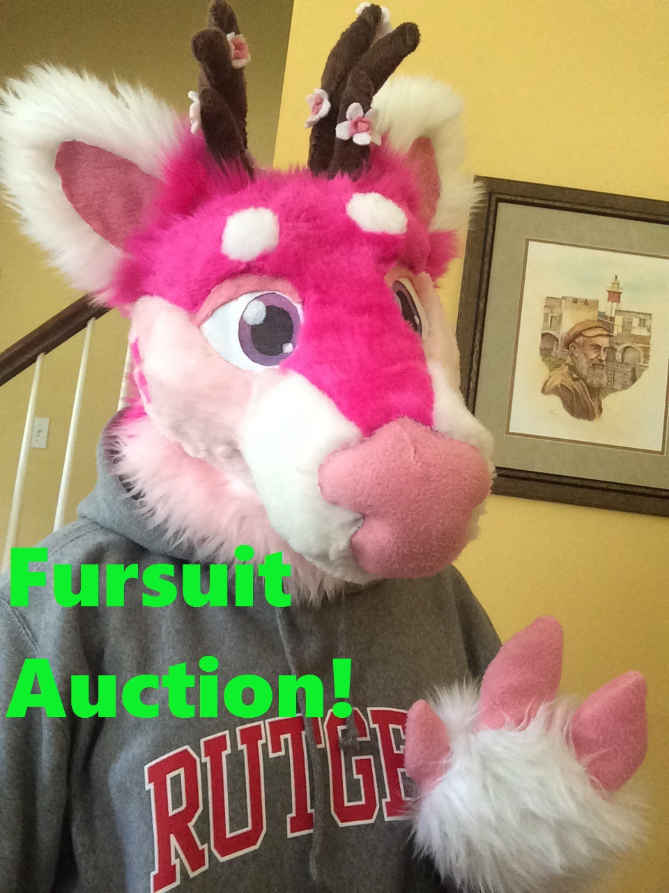FURSUIT AUCTION! Cherry Blossom Deer- starts at $620