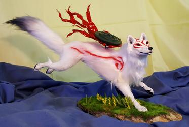 Okami Amaterasu OOAK Sculpture