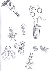 Doodles with my mom and bro