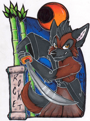 Rocket Oriental-Themed Badge (FWA 2015)