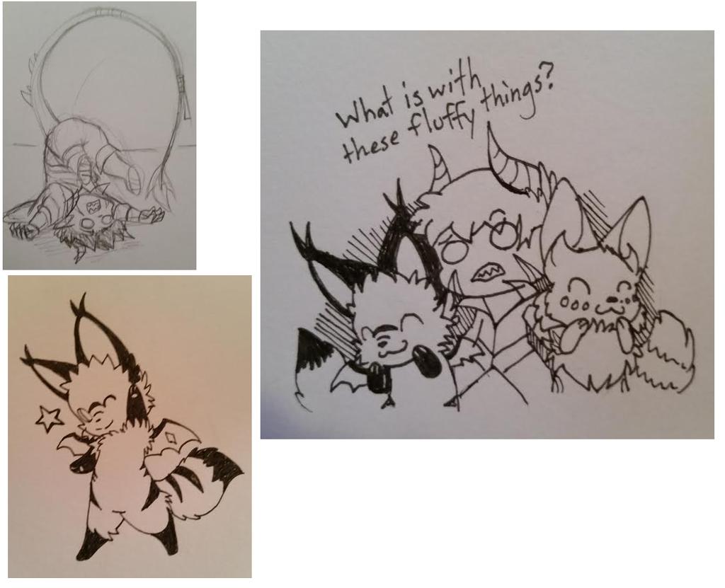 Christmas Ink Works: myaku and Efret