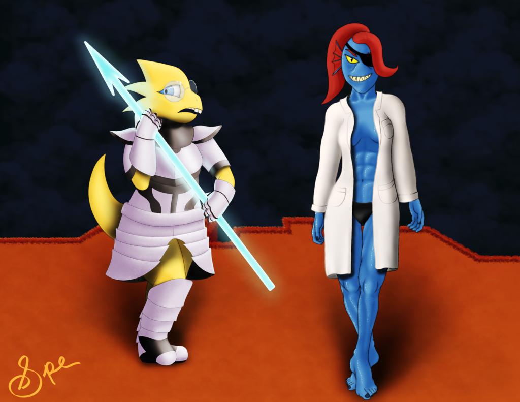 Undyne/Alphys Costume Swap