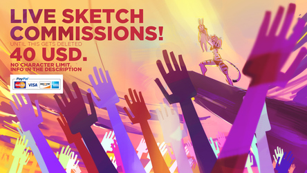 Live sketch commissions NOW!