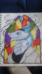 Stained glass sergal