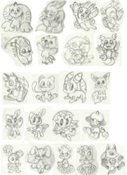 Digimon and Pokemon charm designs