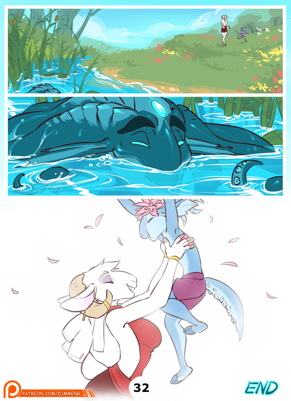 Gift from the Water God pg. 32. END
