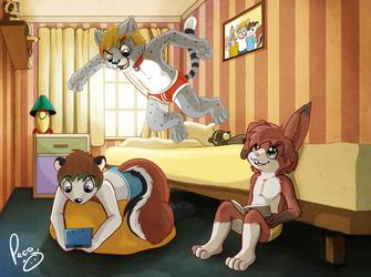 the kids room