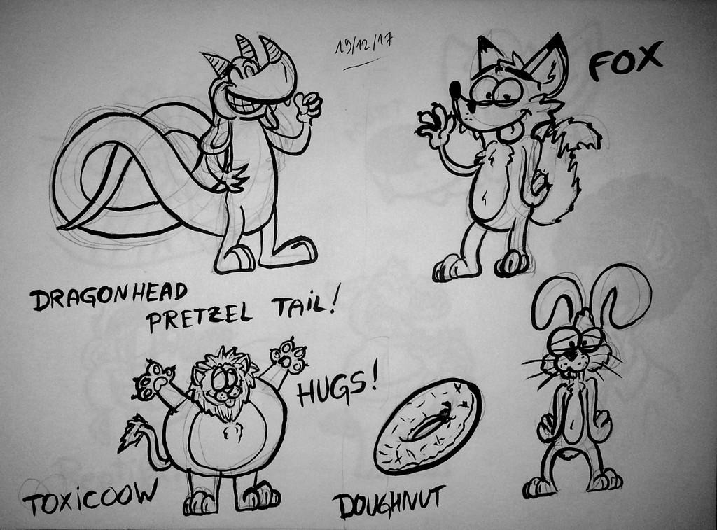 dragonhead pretzel and round toxicoow