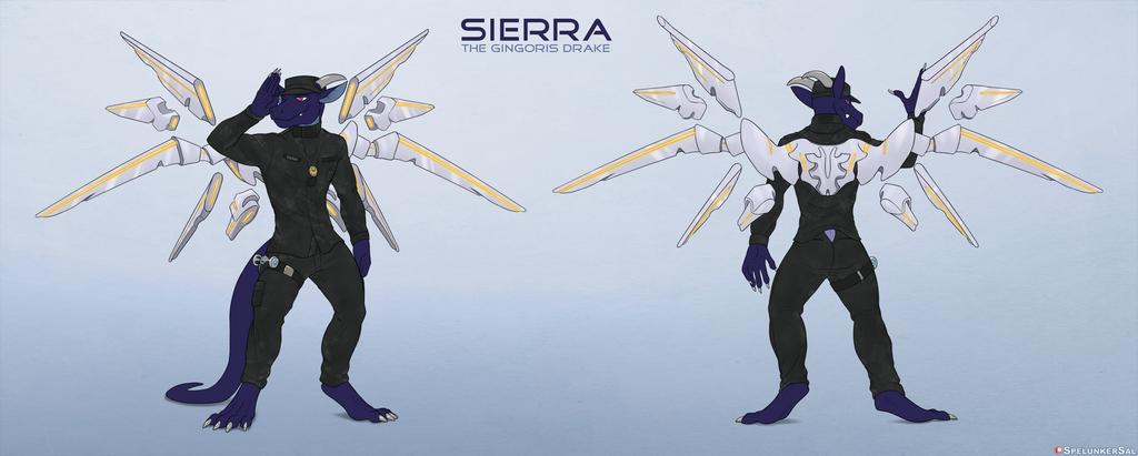 Most recent image: Sierra. the Gingoris Drake (SFW ref for Sierra104)