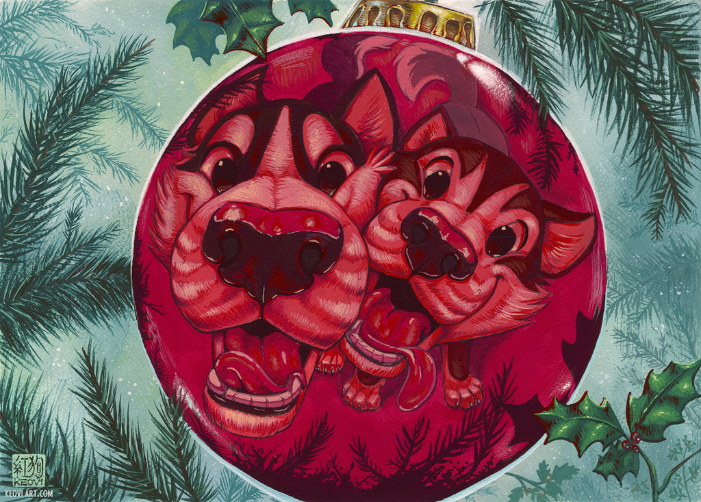 Sofawolf Holiday 2015 Card