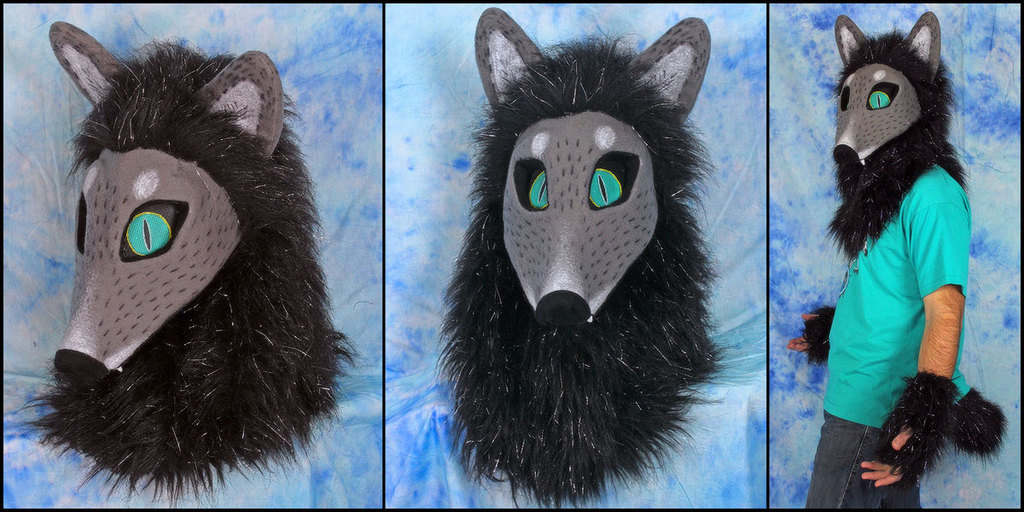 Featured image: grey fox mask set -FOR SALE-