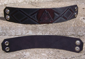Leather Projects - Valknut Wristband 2