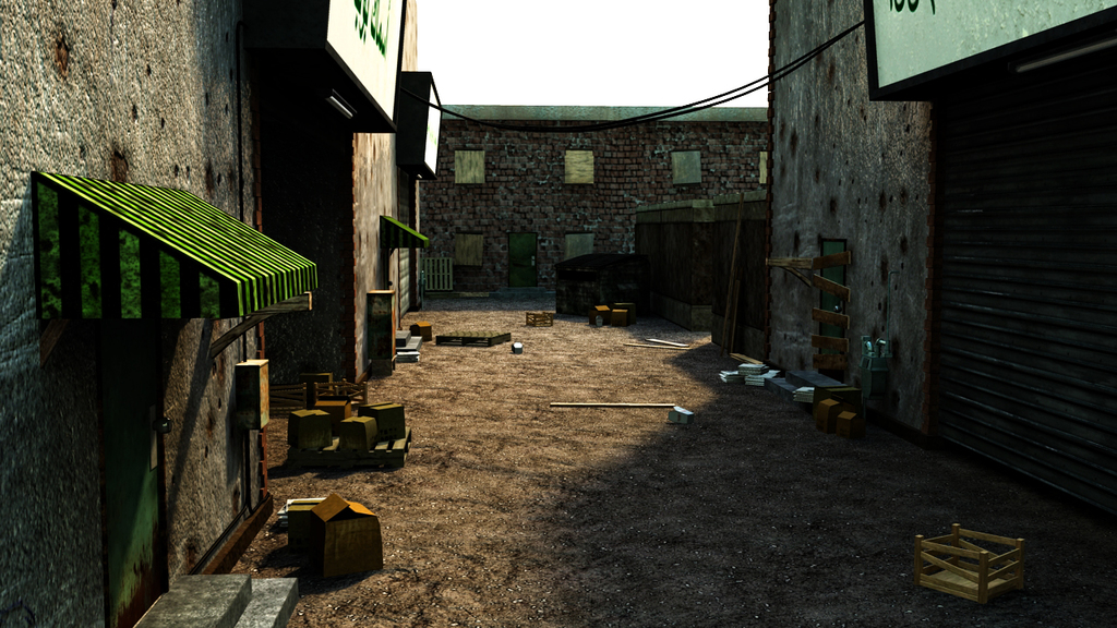 Alley 2 - Texture WIP