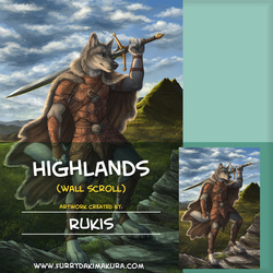 Highlands Wall Scroll by Rukis
