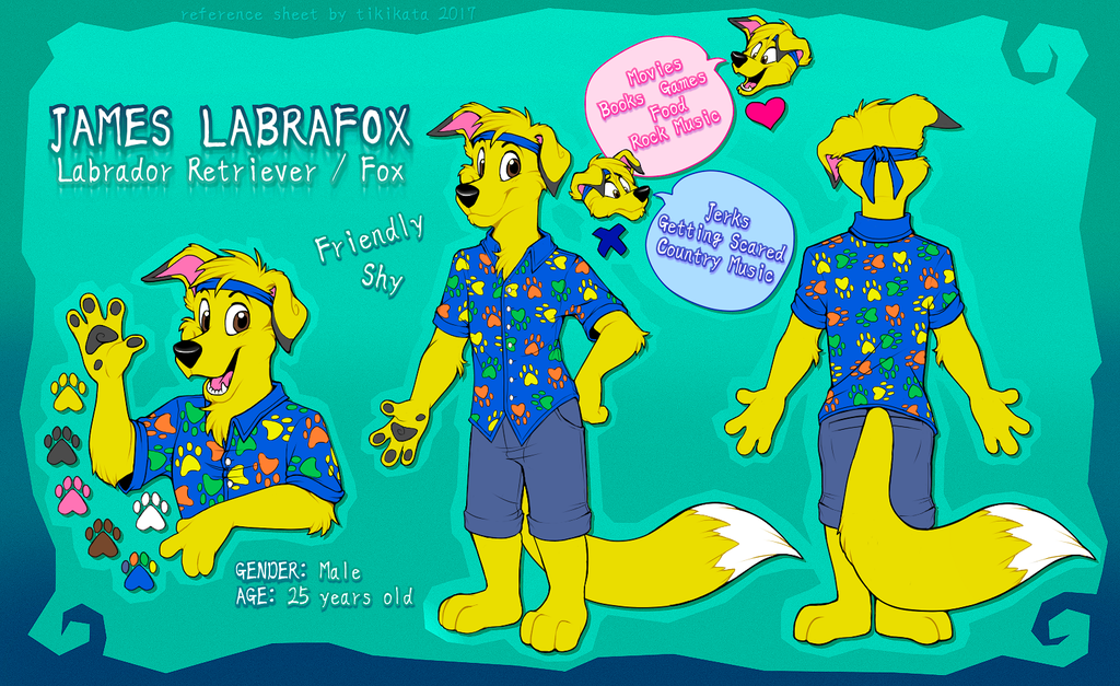 James Labrafox Reference Sheet (Commission)