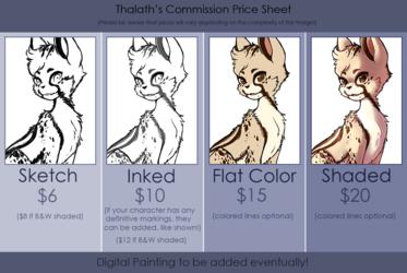 Commission price sheet (Please read desc.!)