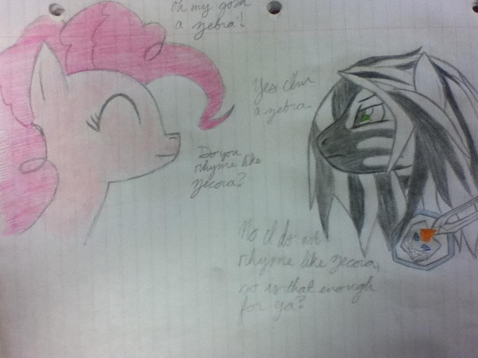 Zebra meets Pinkie Pie