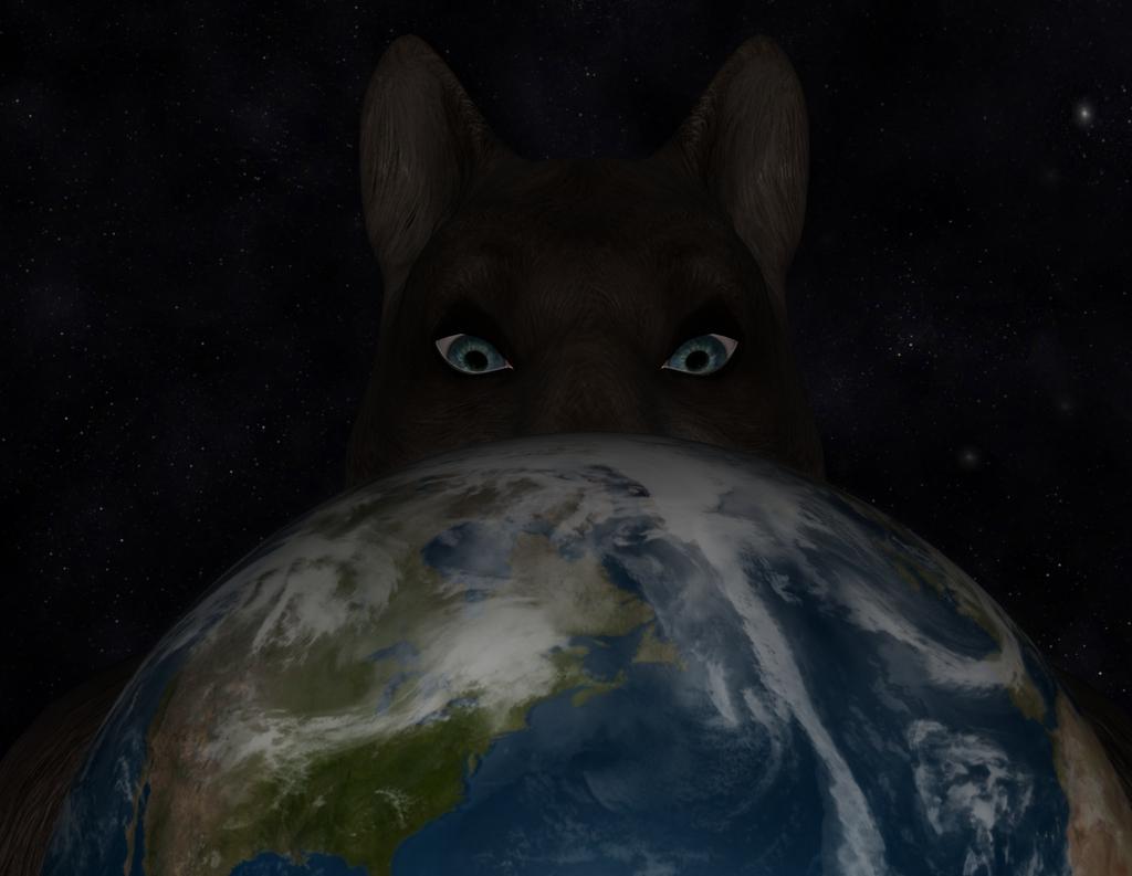 Peeking over the Earth