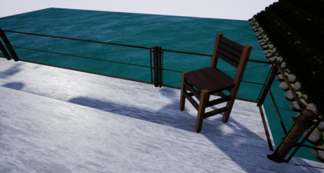 Chair imported to Unreal Engine