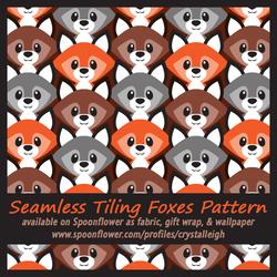 So Foxy Seamless Pattern