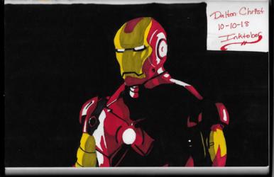 Iron Man is Not Amused. (Inktober 2018, Piece 10)