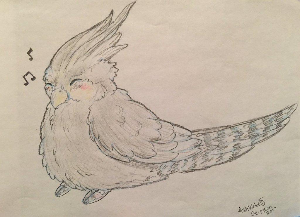 DPC Con cute bird commission