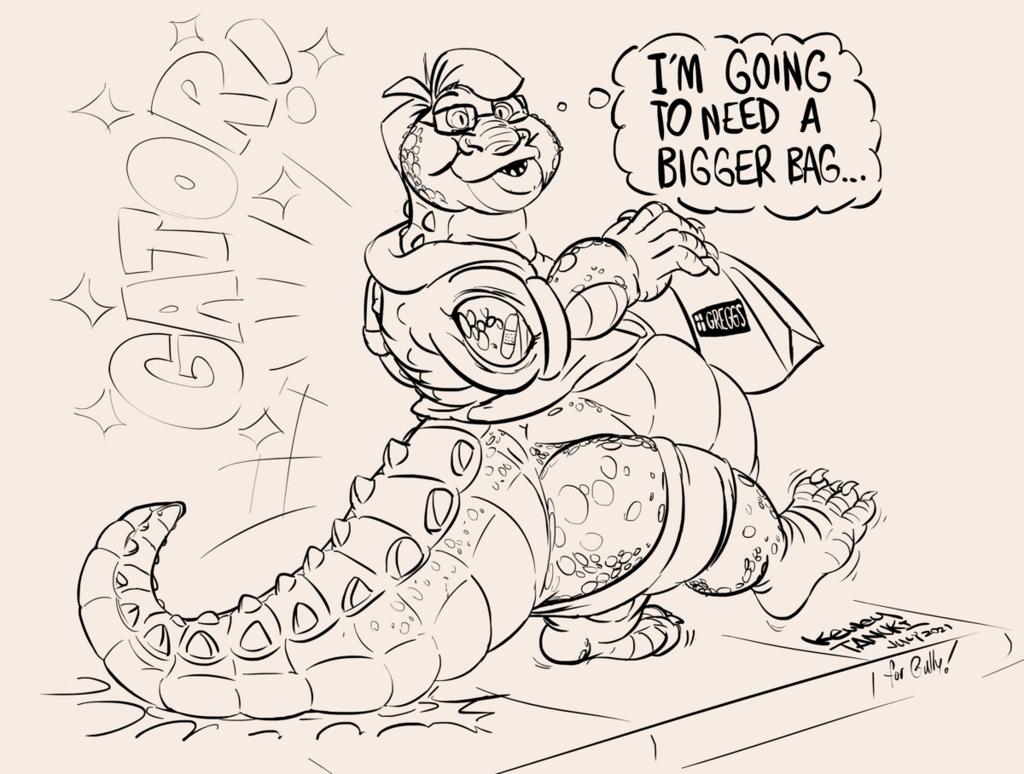 Most recent image: Alligatored!