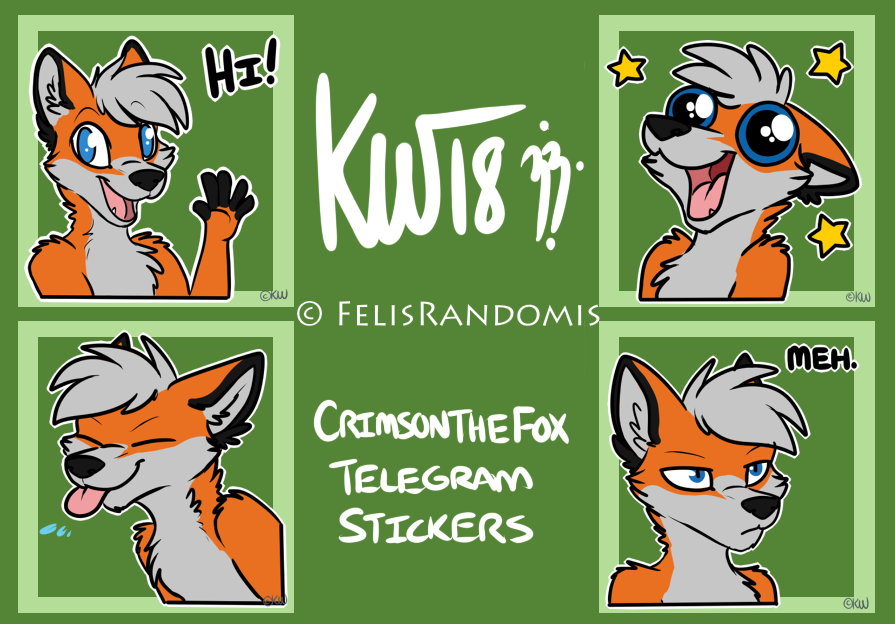 Crimson the Fox Telegram Stickers