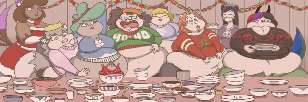 Most recent image: Christmas Dinner YCH