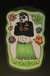 Unhappy Panda Traditional Badge