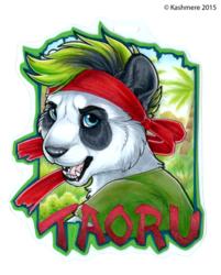 Taoru Panda Badge