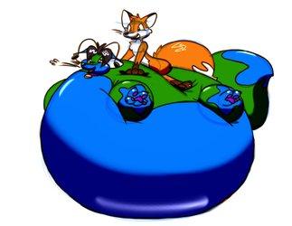 Alien fox balloon ride