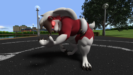 Lycanroc is ready for battle! (Day Version)