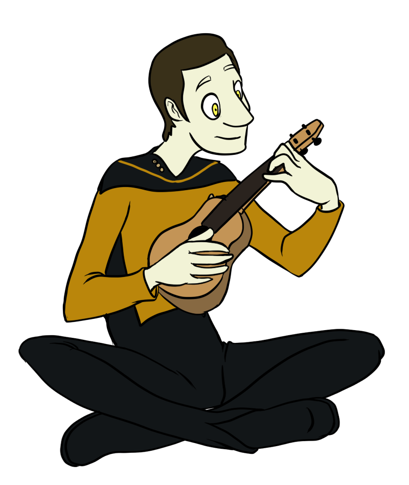 Data Plays the Ukelele