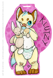 Klutzy - Chibi Badge