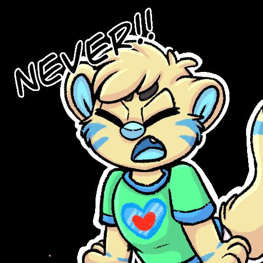 Never! Telegram Sticker